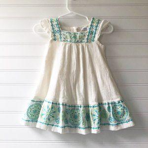 Gap Embroidered Smocked Ruffle Sleeve Dress Set